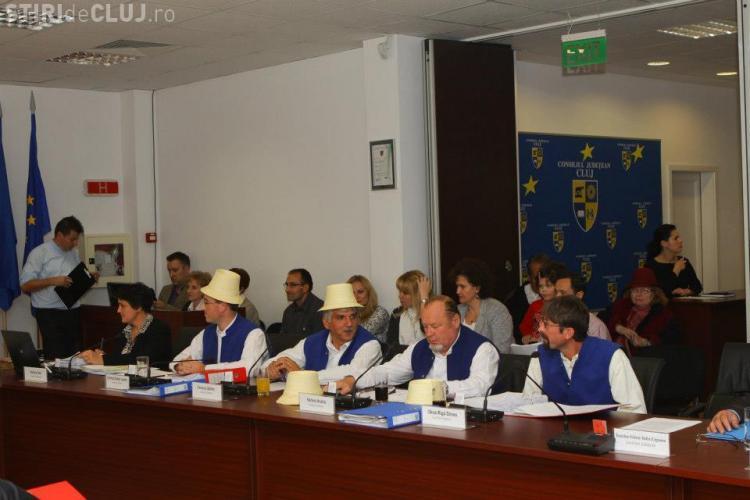 Consilierii județeni UDMR Cluj au protestat față de starea drumului de la Sic - FOTO