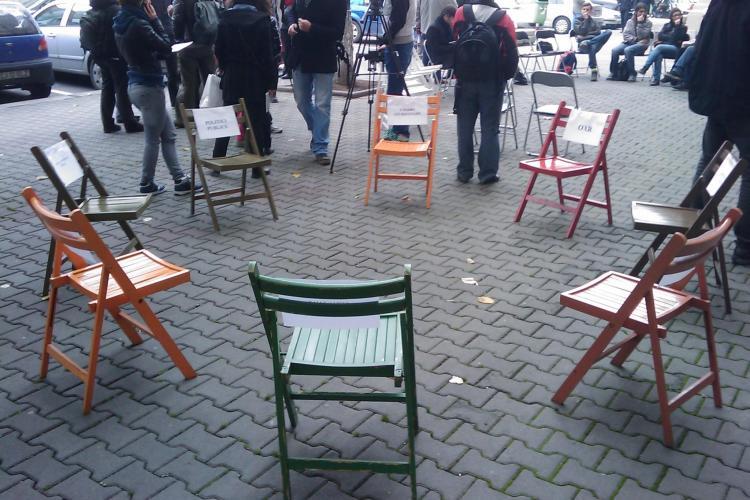 Clujenii nu vor parking pe Kogalniceanu. Oamenii nu vor ca arborii seculari din zonă să dispară - VIDEO