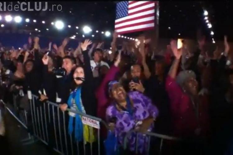 ALEGERI SUA 2012. Cum s-au bucurat suporterii lui Obama pentru VICTORIE - VIDEO