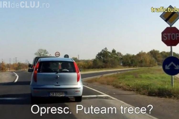 """Și poliția din Ungaria stă la pândă? Un șofer clujean a filmat un echipaj care monitoriza """"invizibil"""" o intersecție - VIDEO"""