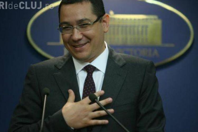 """Victor Ponta îl atacă pe Băsescu:""""E un bun agent de vânzări"""""""