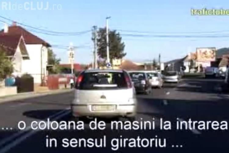 """Sensul giratoriu din Florești, locul pe unde numai """"șmecherii"""" trec repede - VIDEO"""