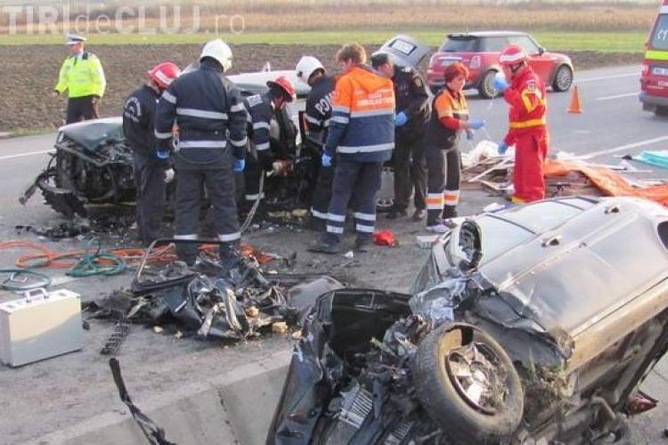 Accident în Gherla! Un Hyunday și un Audi s-au făcut PRAF - VIDEO și FOTO