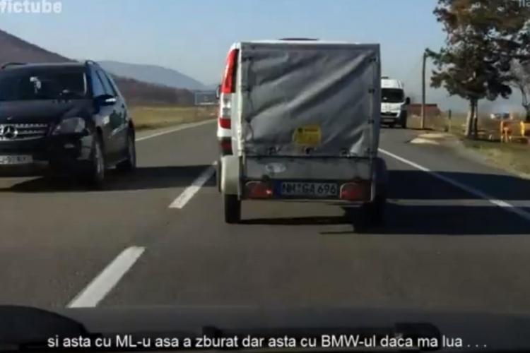 Depășire inconștientă a unui sofer din Cluj. Tot el a exclamat: ERA SĂ MOR - VIDEO