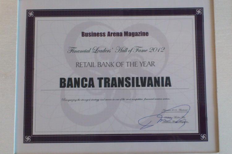 """Banca Transilvania, desemnată """"Retail Bank of the Year"""", pentru performanțe de invidiat"""