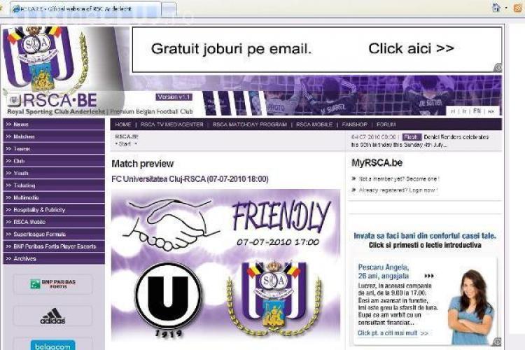CFR Cluj si Universitatea sunt confundate de adversarele din Austria