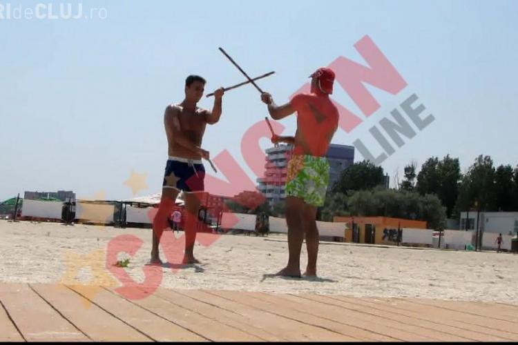 Mircea Badea se bate pe plaja la Mamaia - VIDEO si FOTO
