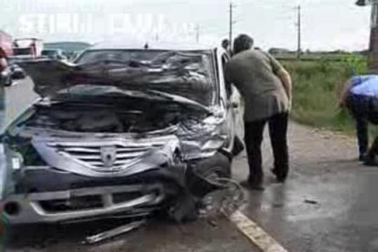 VIDEO - Accident grav la Jucu! Patru persoane ranite si trei masini avariate - UPDATE - Galerie FOTO