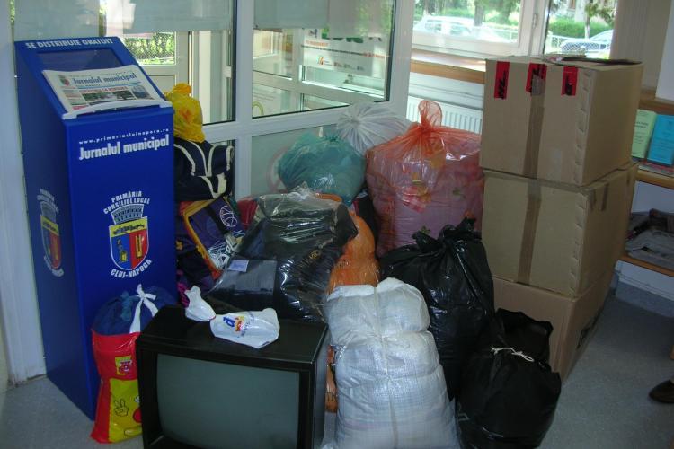 1.500 de clujeni au donat bunuri si bani pentru sinistratii din Moldova