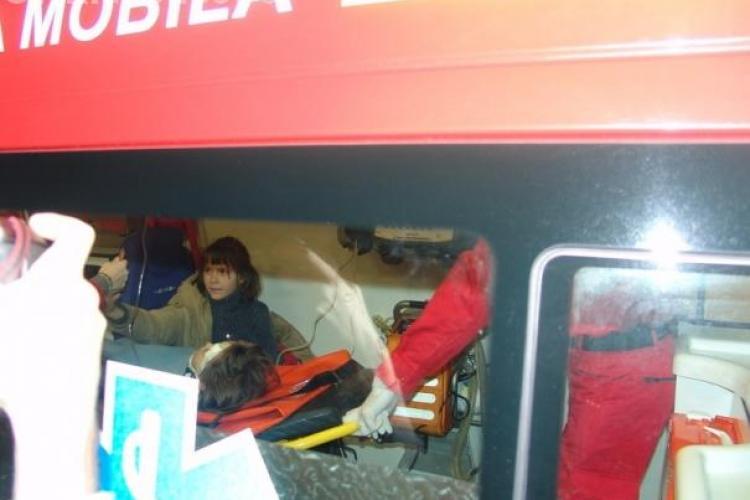 Accident grav in Floresti. O fetita de 13 ani a fost lovita de o autoutilitara