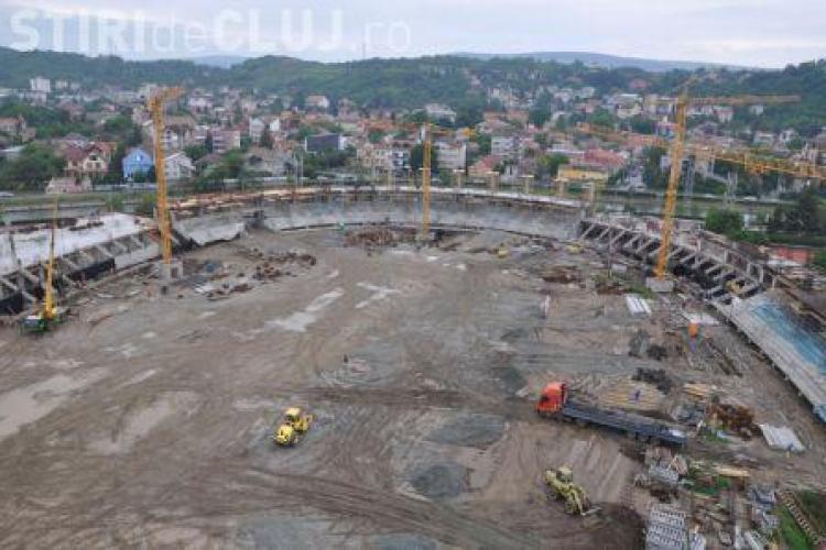 """Stadionul Municipal """"Cluj Arena"""" este finalizat pe jumatate - Galerie FOTO"""