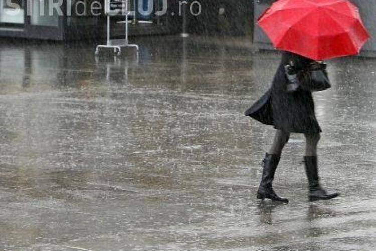 COD GALBEN de ploi torentiale si vijelii la Cluj in acest weekend