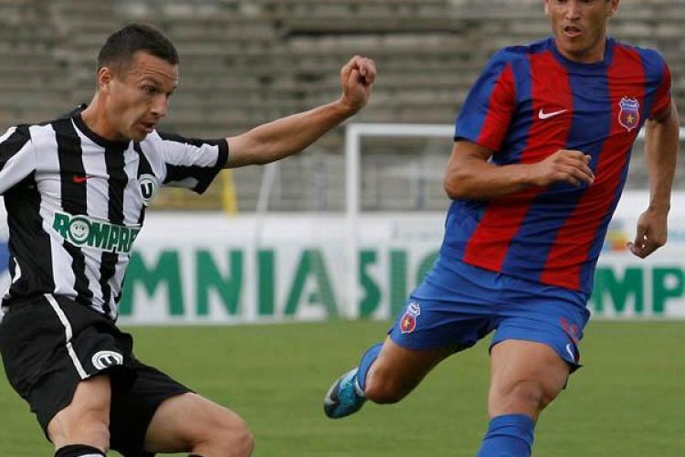 U Cluj a pierdut cu 2-1 meciul cu Steaua lui Piturca. Ex-dinamovistii Niculescu si Bostina nu au putut face diferenta. Rezumatul VIDEO al meciului