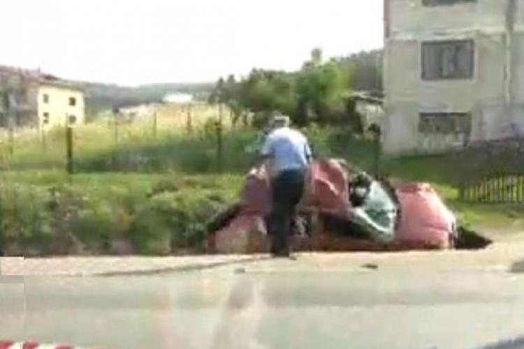 Accident in Valcele intre un TIR si un autoturism Skoda. O persoana a fost grav ranita - VIDEO