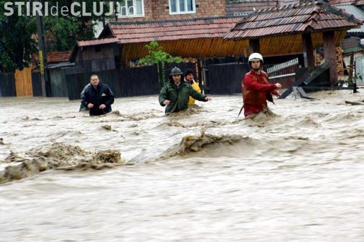 Inundatii Cluj - Bilant: Pagube de 56,2 milioane de lei provocate de viituri si 600 de case inundate. VEZI imagini cu prapadul din luna iunie