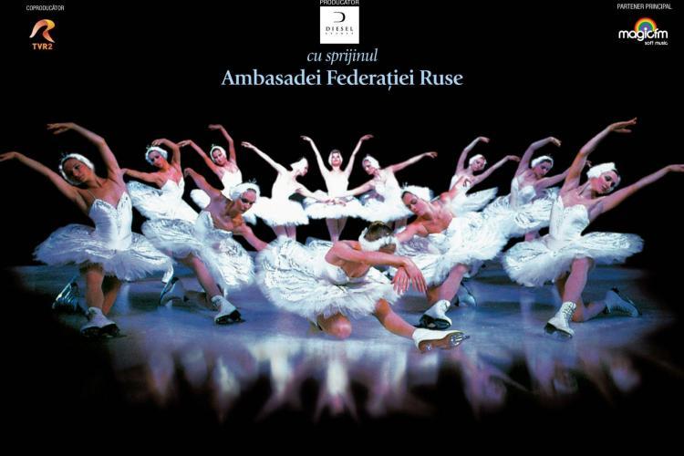 Balet pe gheață la Teatrul Național: Lacul lebedelor susținut de Ansamblul de Stat al Baletului pe Gheață din St. Petersburg