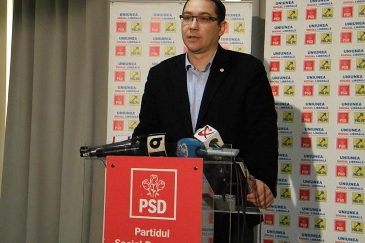 Ponta anunță că USL începe discuţiile cu UDMR pentru o majoritate constituţională