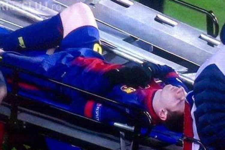 Messi s-a accidentat în Liga Campionilor - VIDEO