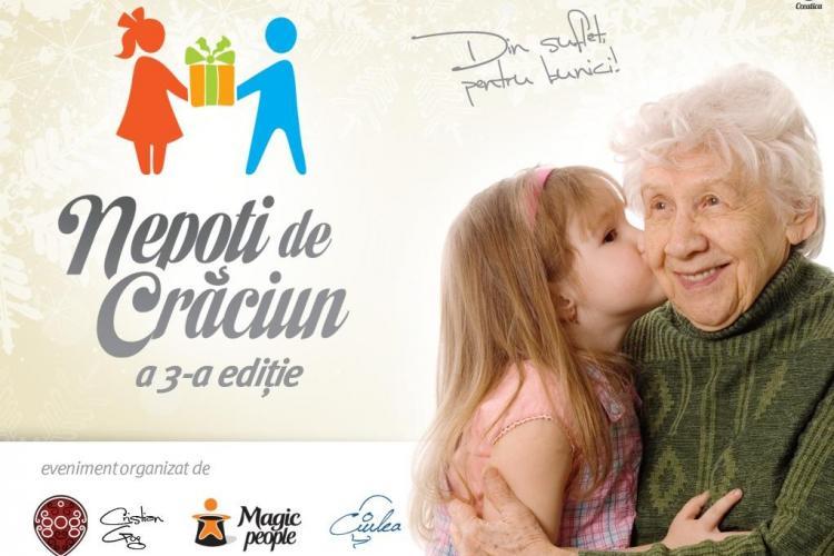 """""""Nepoți de Cărciun"""" va ajuta în acest an 400 de bunici din Cluj"""