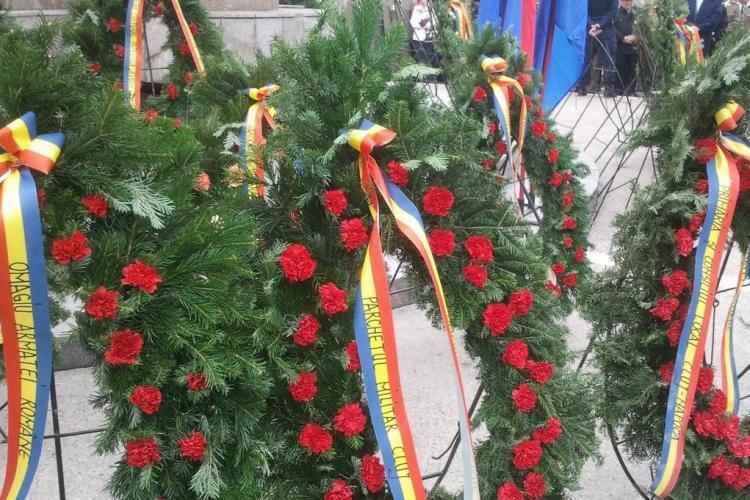 SFIDARE de 1 Decembrie? UDMR Cluj, singurul partid care nu a depus coroane de flori la statuia lui Avram Iancu
