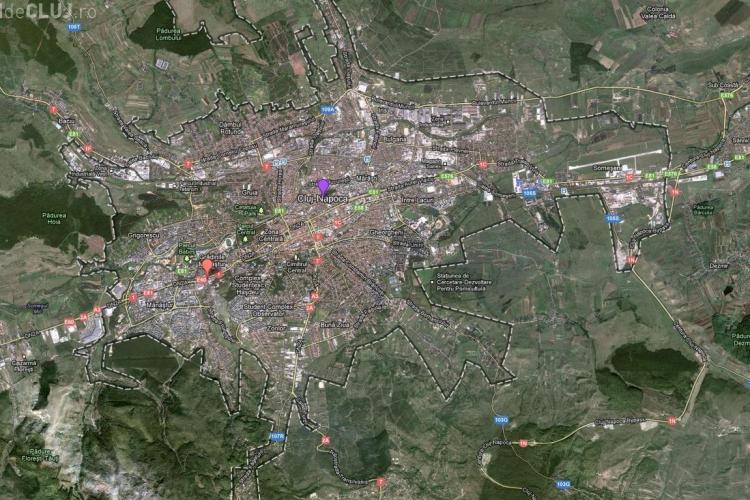 Google Maps crede că Autostrada Transilvania trece prin centrul Clujului - VEZI FOTO