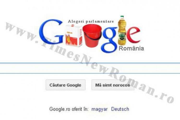 Google celebrează alegerile parlamentare din România printr-un logo excepţional. Vezi FOTO