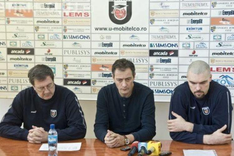 U Mobitelco înfruntă CSM Oradea, marti, 18 decembrie. VEZI declarații
