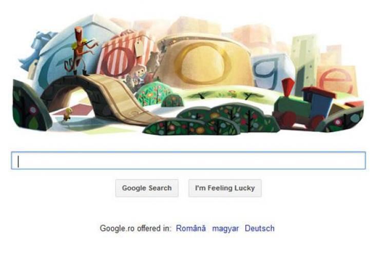 Google urează SĂRBĂTORI FERICITE printr-un logo special de Crăciun