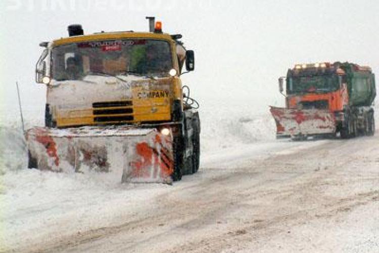 Firma DIFERIT face deszăpezirea pe drumurile clujene, dar nu are utilaje. Contractul e de 2,1 milioane de euro