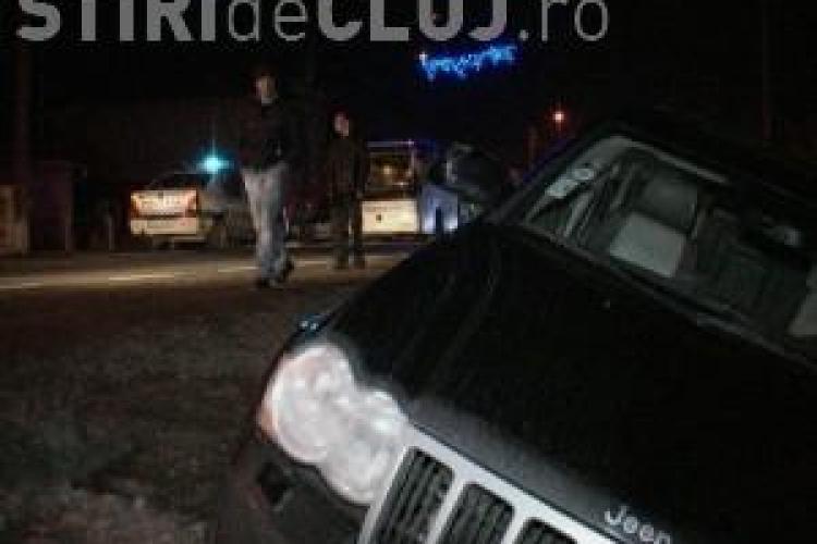 Un autocar a fost implicat într-un accident lângă Dej - VIDEO