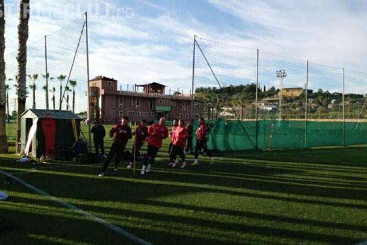CFR Cluj a făcut primul antrenament în Spania - FOTO
