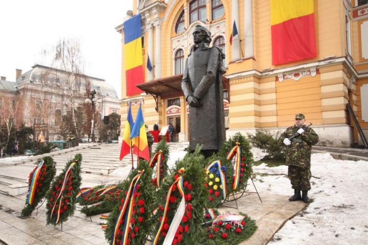 Mihai Eminescu a fost omagiat la Cluj de Ziua Culturii Naţionale