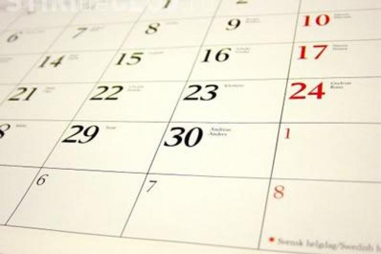 Zile libere în 2013. Vezi care sunt sărbătorile legale care vor pica în timpul săptămânii