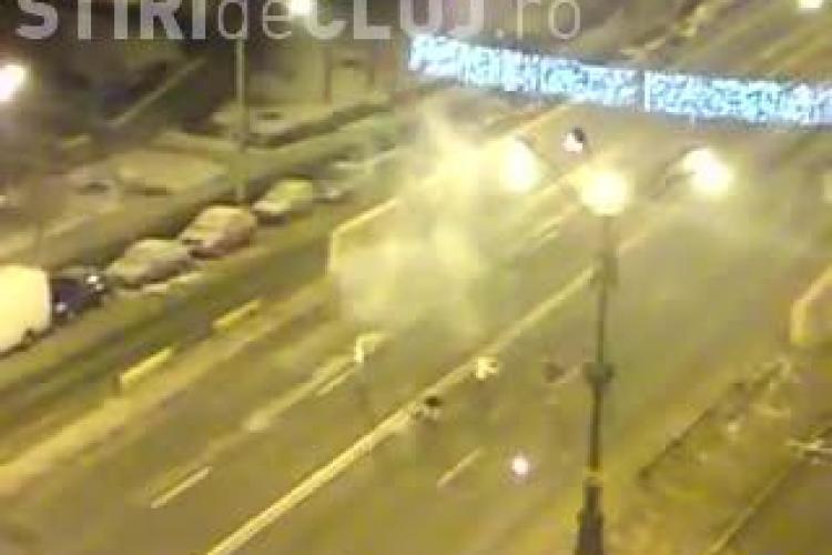 REVELION 2013 în Mănăștur! Imagini UNICE. Oamenii au sărbătorit pe Calea Mănăștur - VIDEO