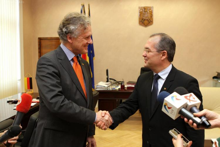 Emil Boc l-a primit pe Ambasadorul Germaniei - FOTO