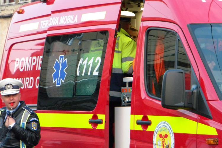 ACCIDENT rutier cu 3 victime la ieşirea din Turda spre Cluj - UPDATE