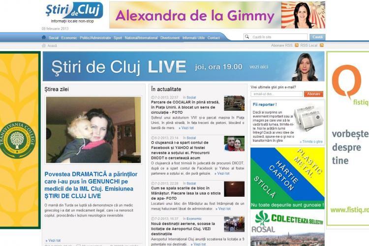 Record ABSOLUT de trafic! Știri de Cluj a avut, joi, aproape 50.000 de cititori UNICI. VĂ MULȚUMIM