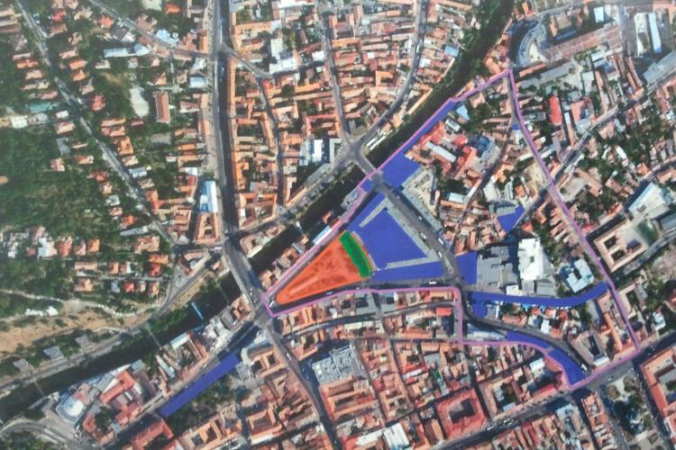 Sensuri UNICE în Piața Mihai Viteazu, o dată cu modernizarea zonei. Vor fi făcute simulări pe calculator
