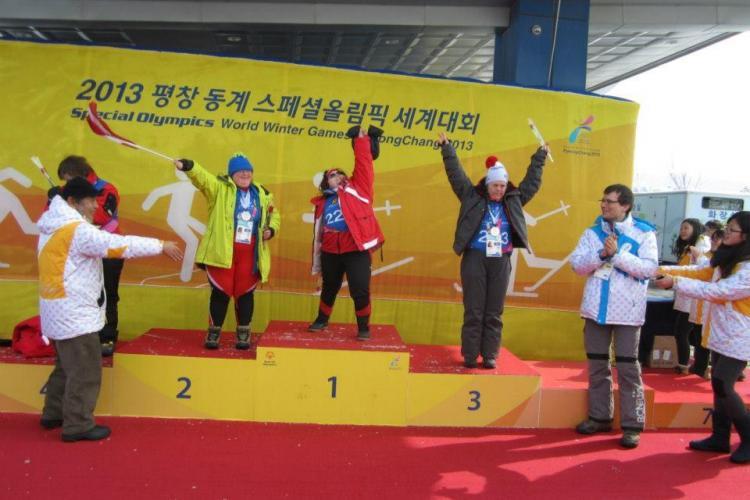 O clujeancă cu sindrom down a câștigat locul 3 la Olimpiada Specială de Iarnă din Coreea