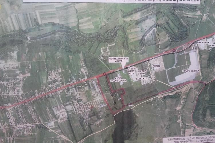 Centură prin spatele Polus, pentru a decongestiona DN 1 sufocat de traficul din Florești