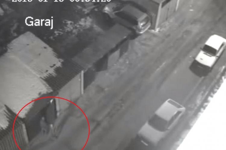 Hoți din garaje, filmați de un clujean de pe balcon în timp unei spargeri - VIDEO