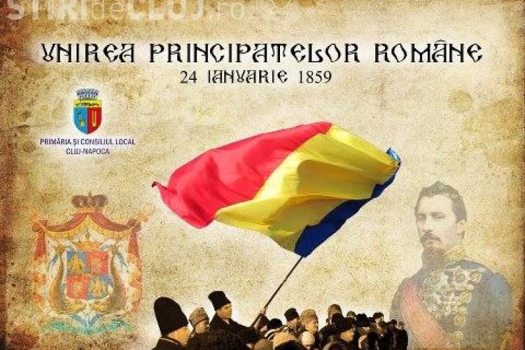 Artificii la Cluj-Napoca, în 24 ianuarie - 154 de ani de la Unirea Principatelor Române