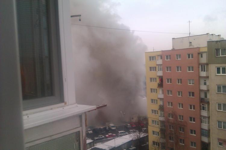 Incendiu la fostul Cinema Dacia, din Mănăștur - VIDEO-FOTO