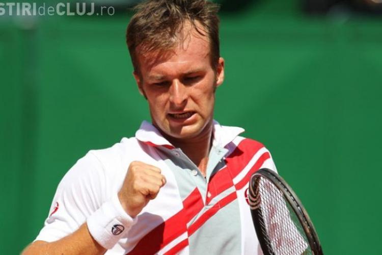 CUPA DAVIS la Cluj. Adrian Ungur a câștigat al doilea meci cu danezul Martin Pedersen