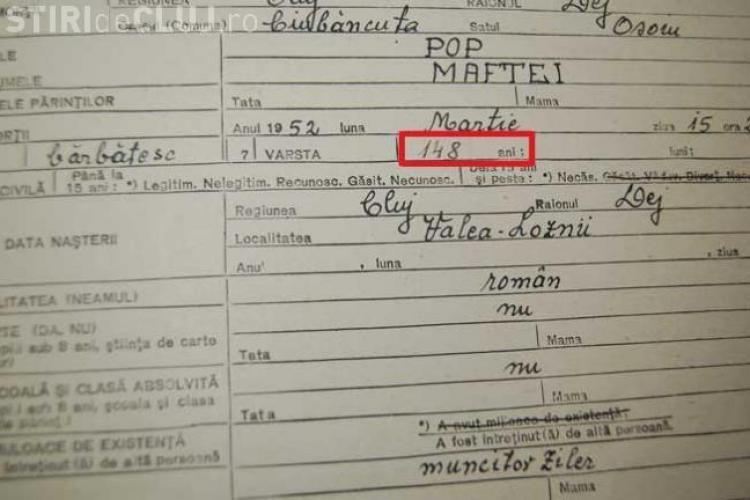 Un clujean a trăit 148 de ani. Vezi documentele și mărturii IMPRESIONANTE