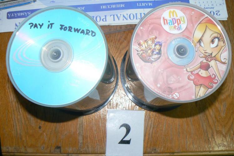 CD -uri pirat, confiscate de Jandarmeria Cluj din Oser