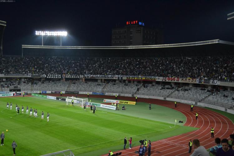 U Cluj - Steaua 0-1. REZUMAT VIDEO - Meciul a fost întrerupt. Haos în tribune