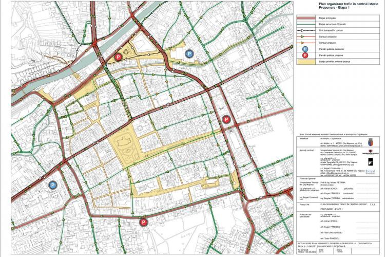 Pietonalizarea Centrului Istoric al Clujului propus prin noul PUG. Vezi noile sensuri UNICE și PARCĂRI - EXCLUSIV
