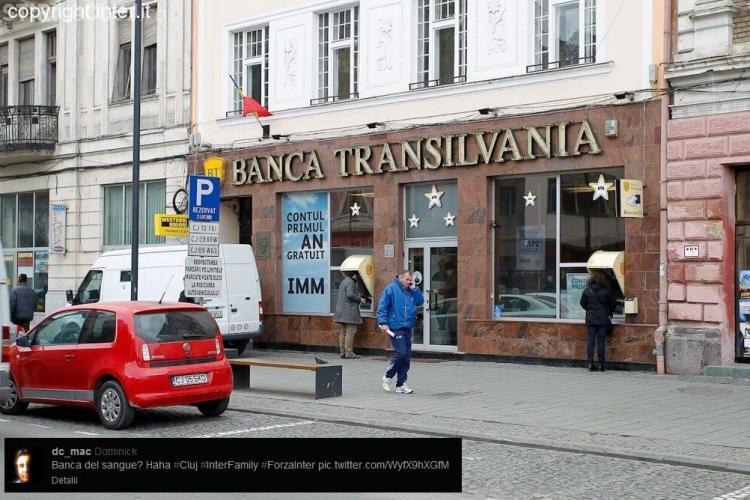 Suporterii Inter ironizează Banca Transilvania - FOTO
