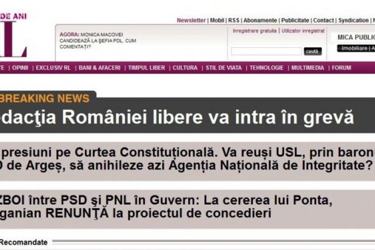GREVĂ la România liberă: Jurnaliștii nu și-au mai primit salariile